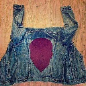 Custom denim jean jacket